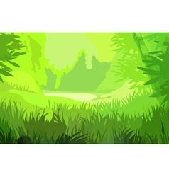 cartoon background bright green field vector image vector image