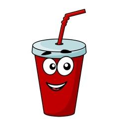 Cartoon takeaway soda drink vector image