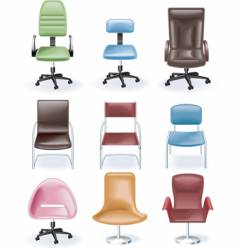 furniture icon set chairs vector image vector image