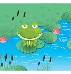happy smiling frog vector image
