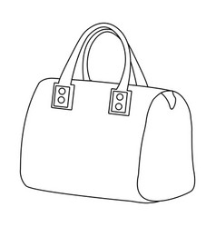 red lady s bag with handles ladies accessory vector image