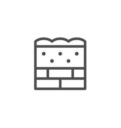 wall insulation line icon vector image