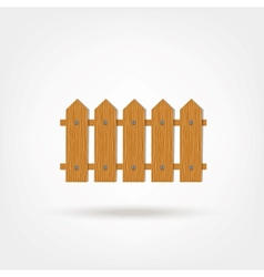 Wooden Boards Fence vector image