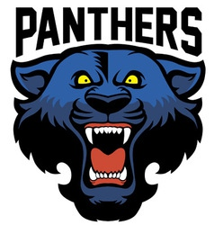 angry panther head vector image vector image