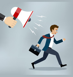 businessman almost late running for work vector image vector image