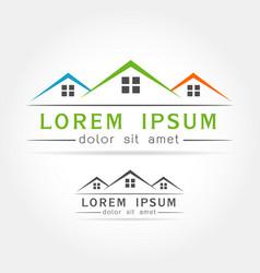 house icon logo vector image
