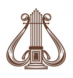 musical instrument harp vector image