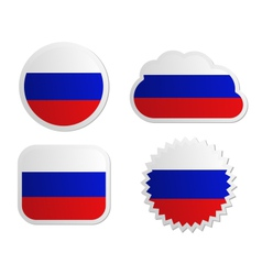 Russia flag labels vector image vector image