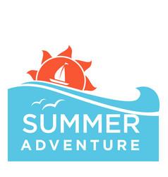 summertime holiday travel adventure ocean vector image vector image