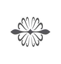 swirl round art black logo vector image vector image