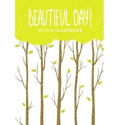 trees card vector image vector image