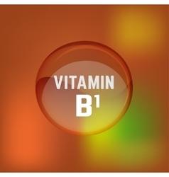 Vitamin B1 02 A vector image vector image