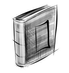 Book isolated on white sketch vector image