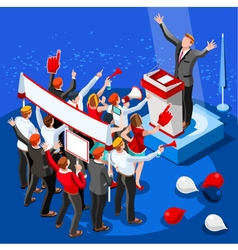 Election Infographic Speaker Conference Isometric vector image vector image