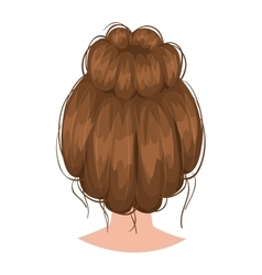woman hairstyle back view vector image