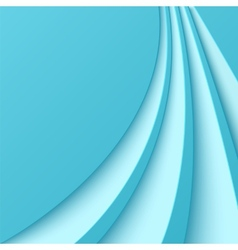 Abstract blue background with curved lines vector image