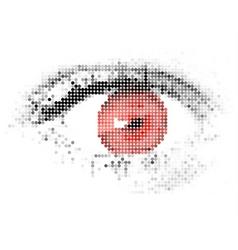 abstract human digital red eye vector image vector image