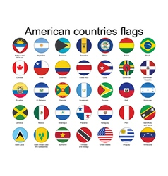 American countries flags vector image vector image