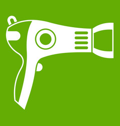 hairdryer icon green vector image