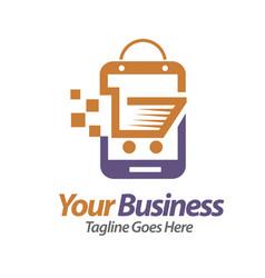 smartphone store vector image vector image