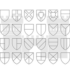 stencils of division of the shield vector image