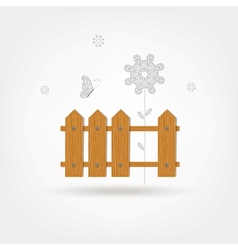 Wooden Boards Fence vector image vector image