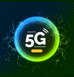 5g wireless internet connection network background vector