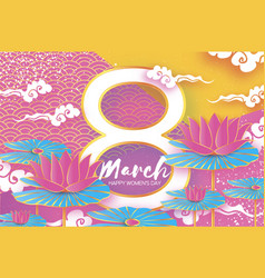 8 march happy women s mother s day colorful vector image