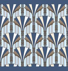 Abstract floral fan shape column ornament vector