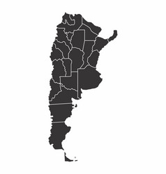 argentina black and white map vector image