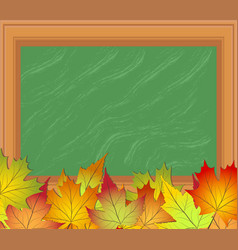 back to school background with blackboard and vector image