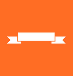 Badge icon ribbon in flat style on orange vector
