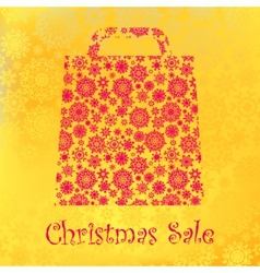 Bag For Shopping With snowflakes EPS 8 vector image