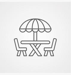 Beach table icon vector