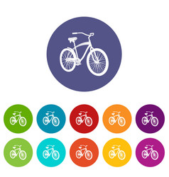 bicycle icon simple style vector image