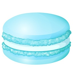 Blue macaron with cream vector