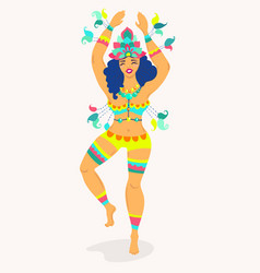 brazil carnival with brazilian vector image