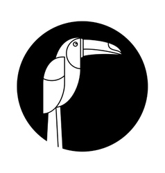brazilian toucan bird nature pictogram vector image