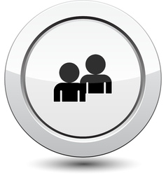 Button with buddy icon vector