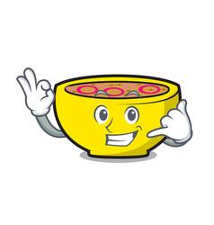 Call me soup union mascot cartoon vector
