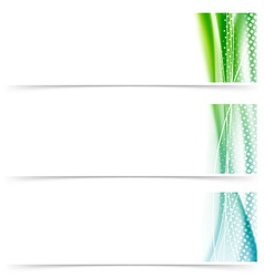 Cards header footer smooth wave swoosh layout vector image