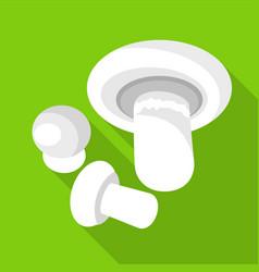 champignon icon flat style vector image