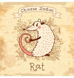 Chinese Zodiac - Rat vector
