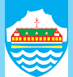 Coat of arms of nuuk is the capital city of vector