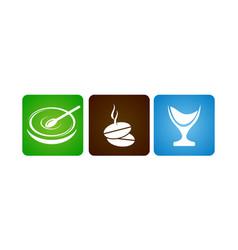 coffee drink food restaurant vector image
