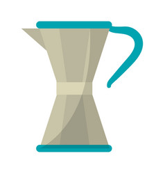 Coffee maker moka vector