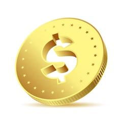 coin golden vector image vector image
