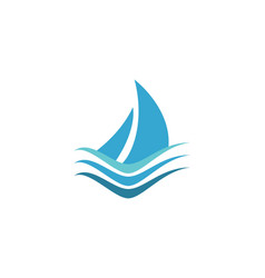 cruise boat ship maritime logo designs vector image