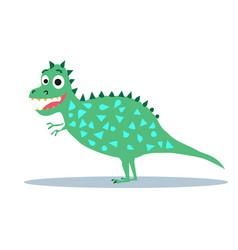 cute dinosaur cartoon drawn as for tee vector image