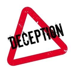 Deception rubber stamp vector
